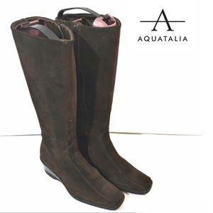 Aquatalia brown suede knee high boots 7.5
